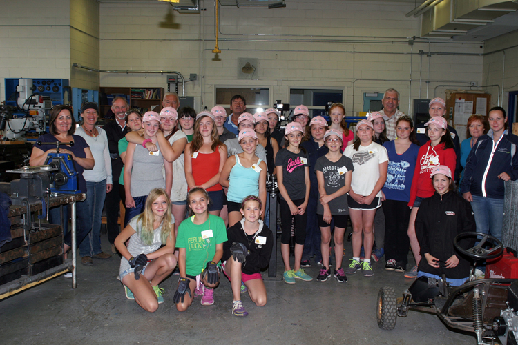The Skilled Trades camp campers
