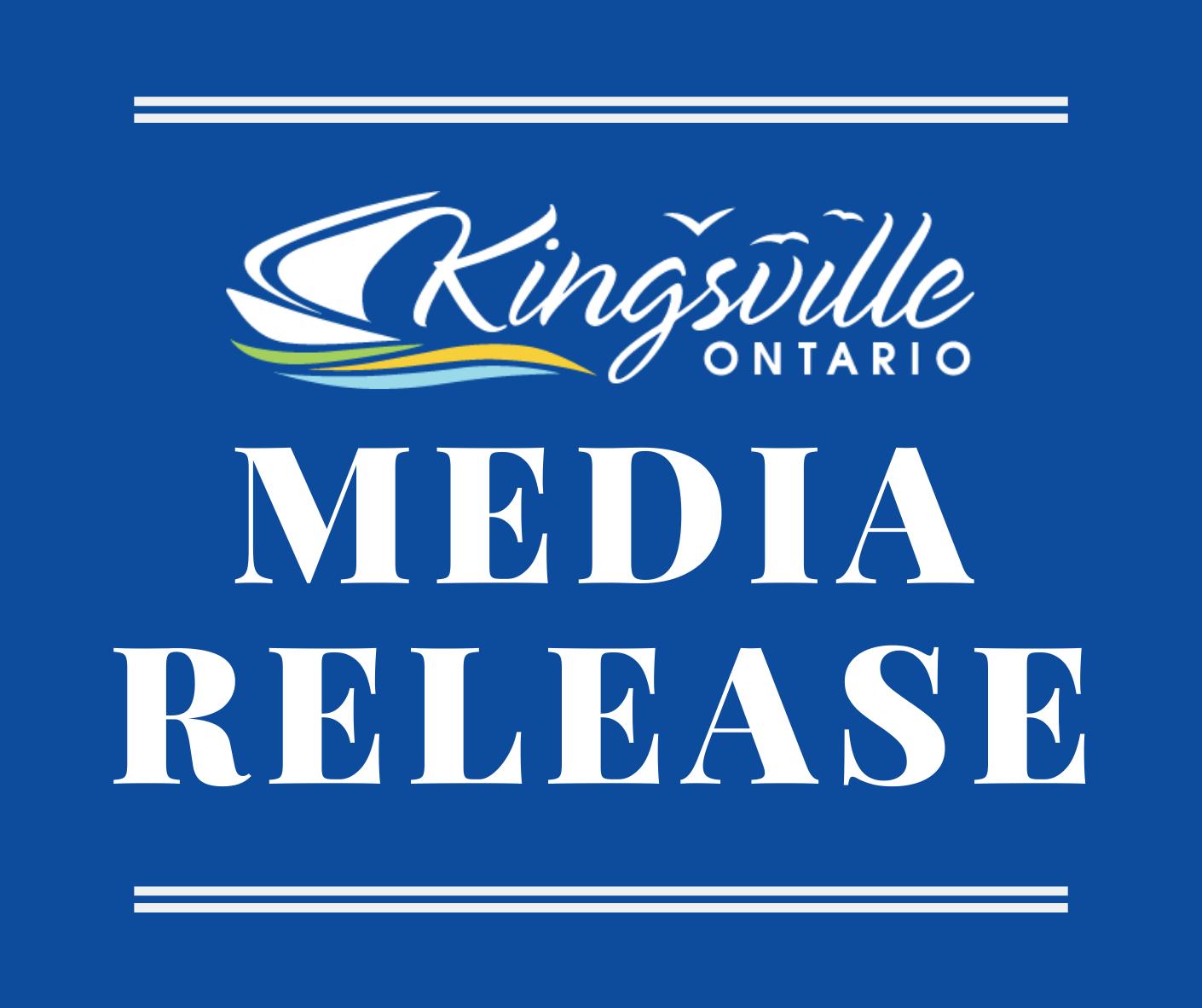 Media Release - Town of Kingsville
