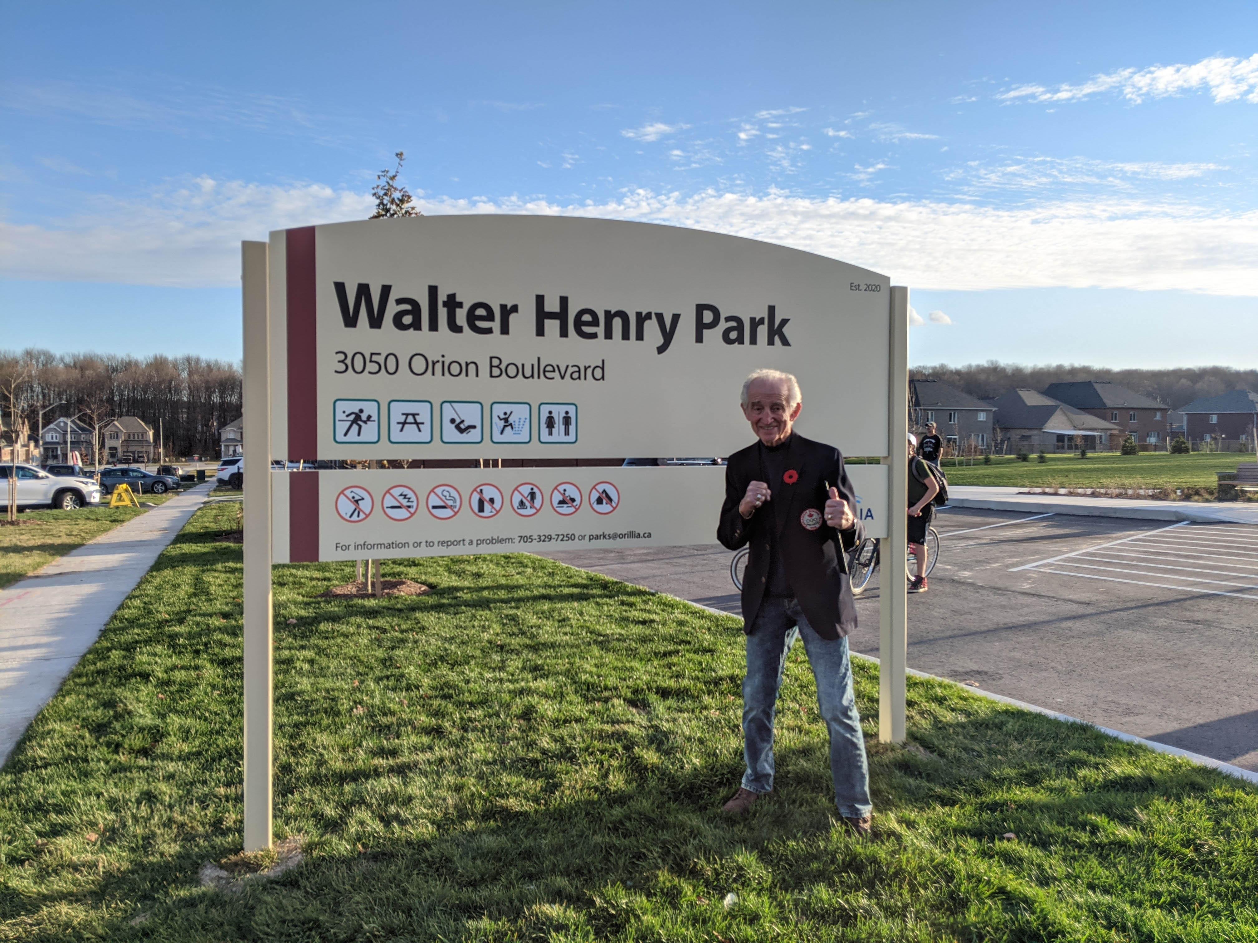 Walter Henry at park