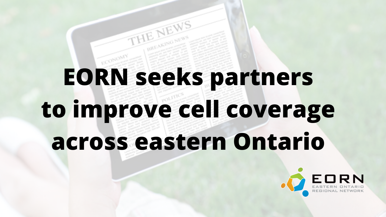 EORN Seeks Partners to Improve Cell Coverage