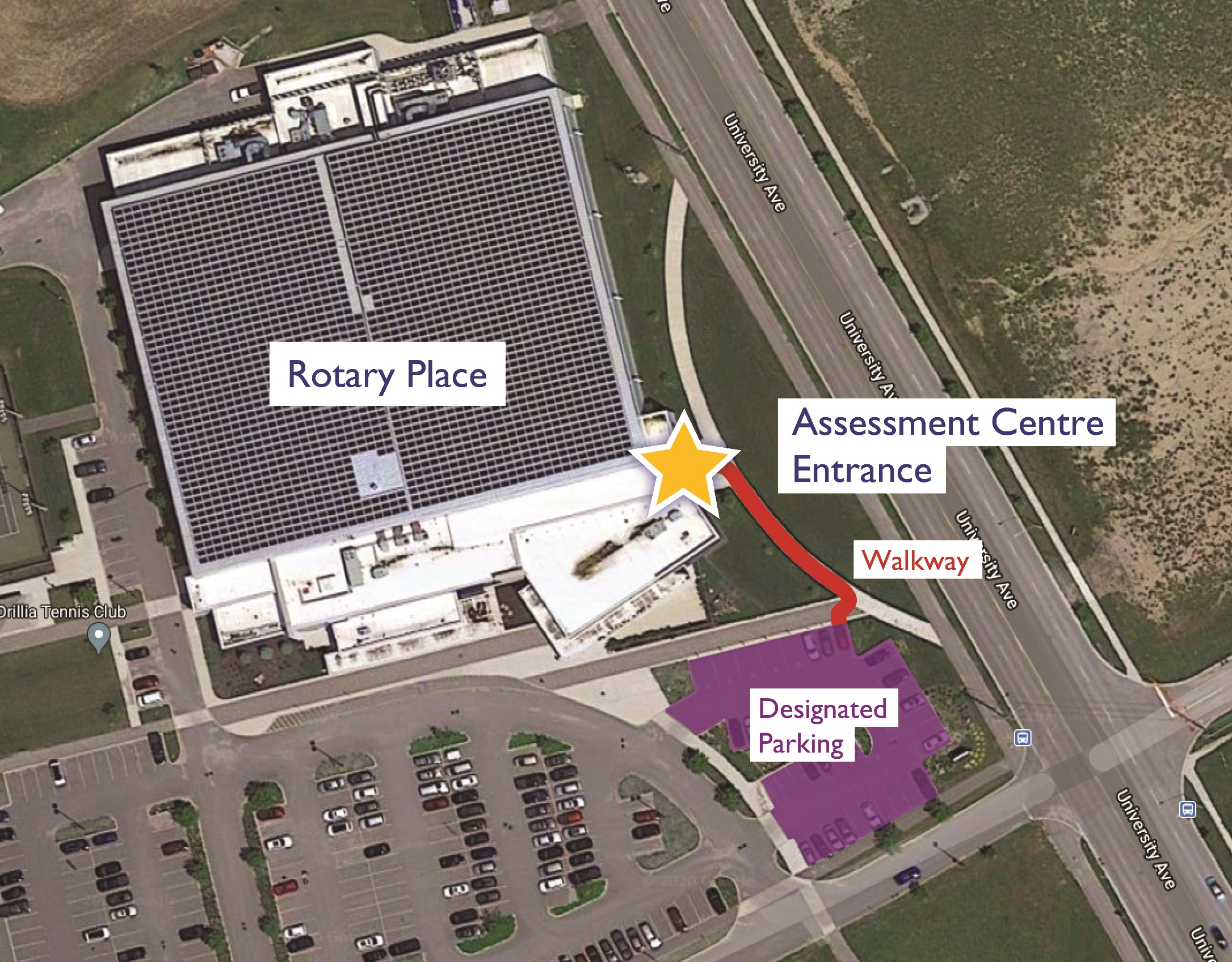Rotary Place Assessment Centre Map