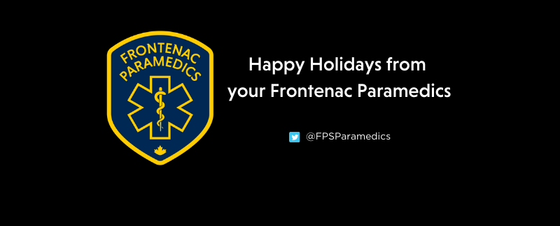 Merry Christmas and Happy New Year from Frontenac Paramedics