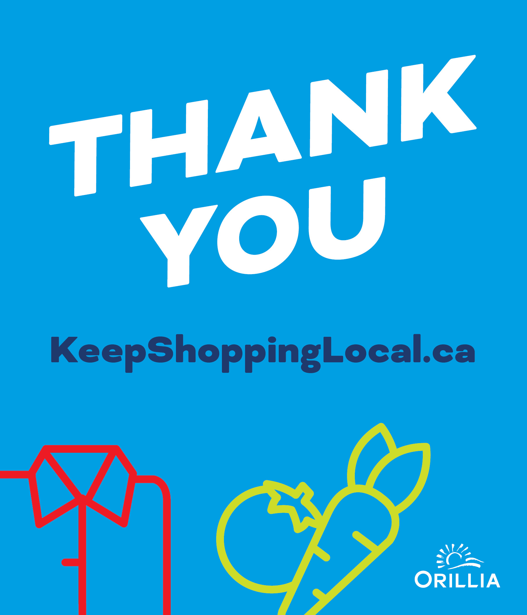 Thank You for Shopping Local Posts