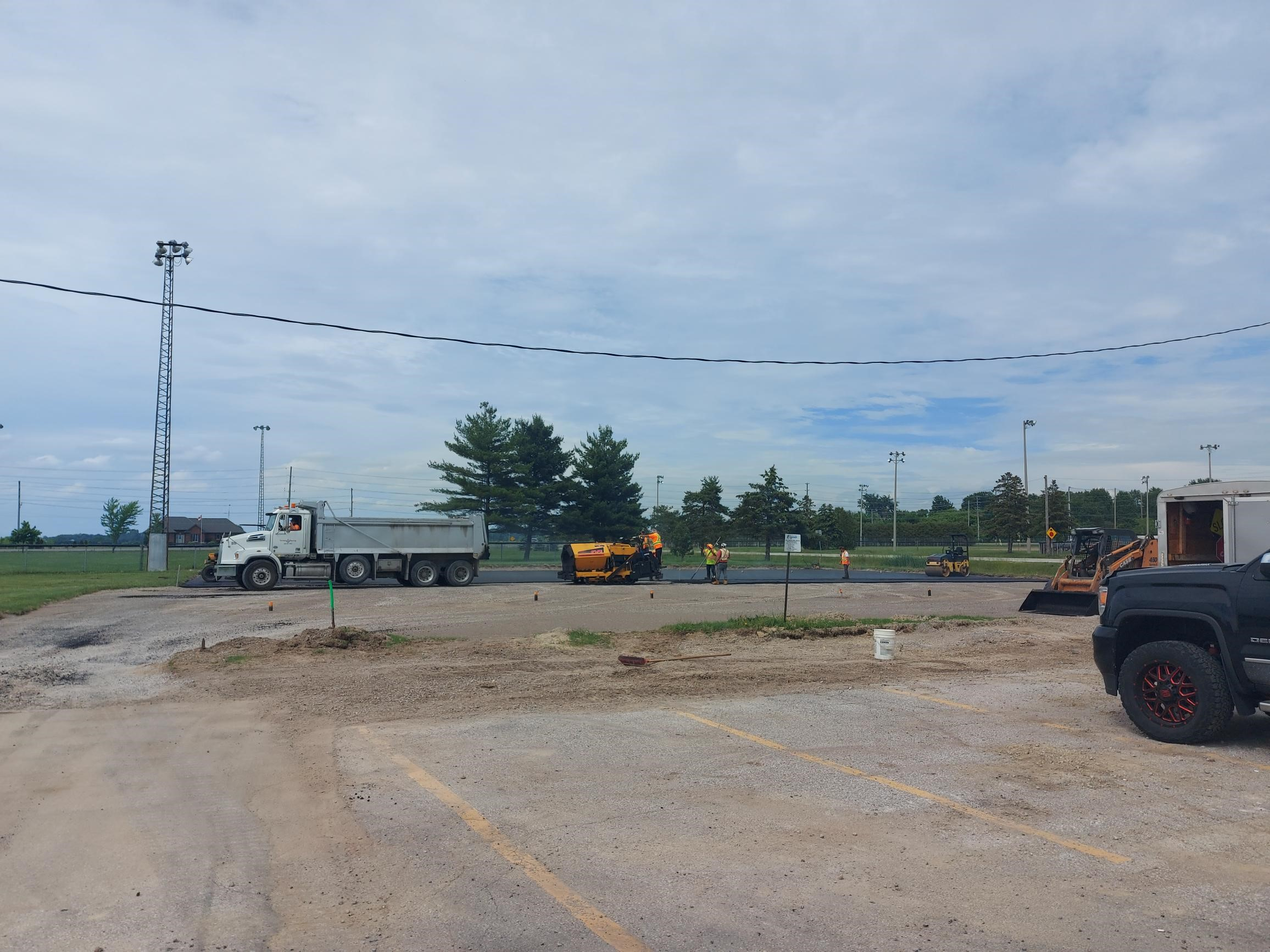Construction work in progress at the Pickleball and Bocce Court Complex