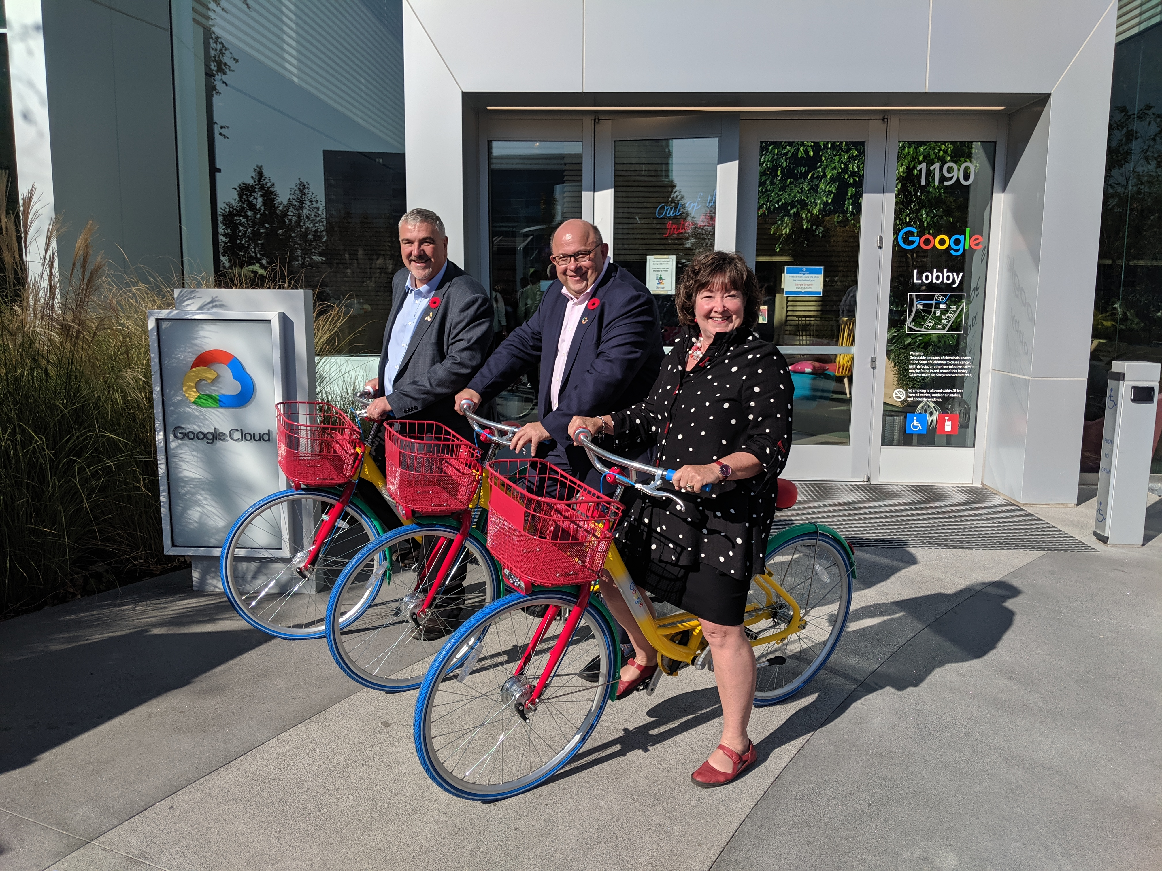 Waterloo Region City Mayors at Google Headquarters