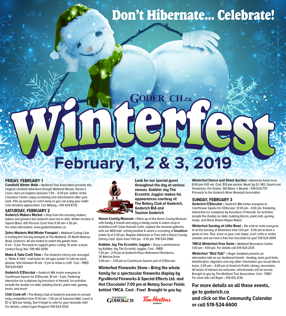 Winterfest 2019 List of Events
