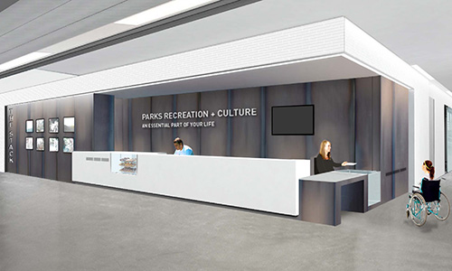 Front lobby rec facility