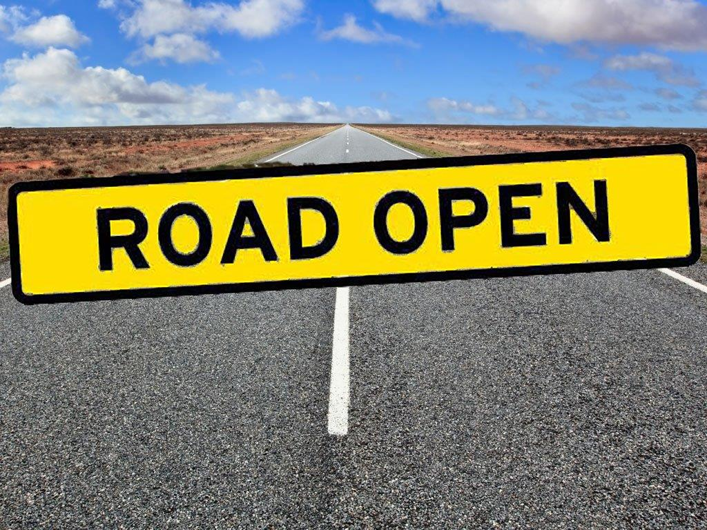 Road Open Sign