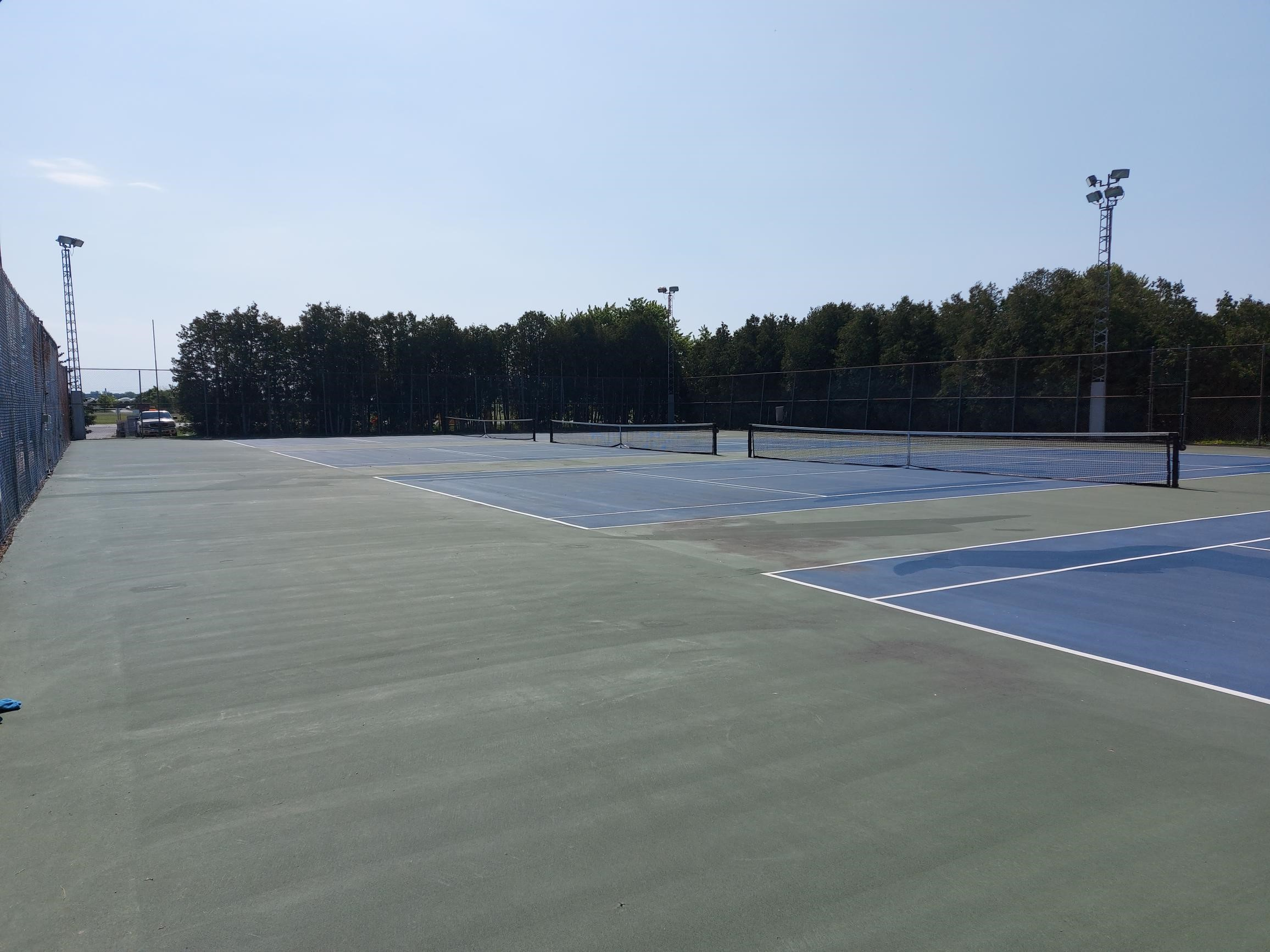 Tennis court at the Kingsville Recreation Complex