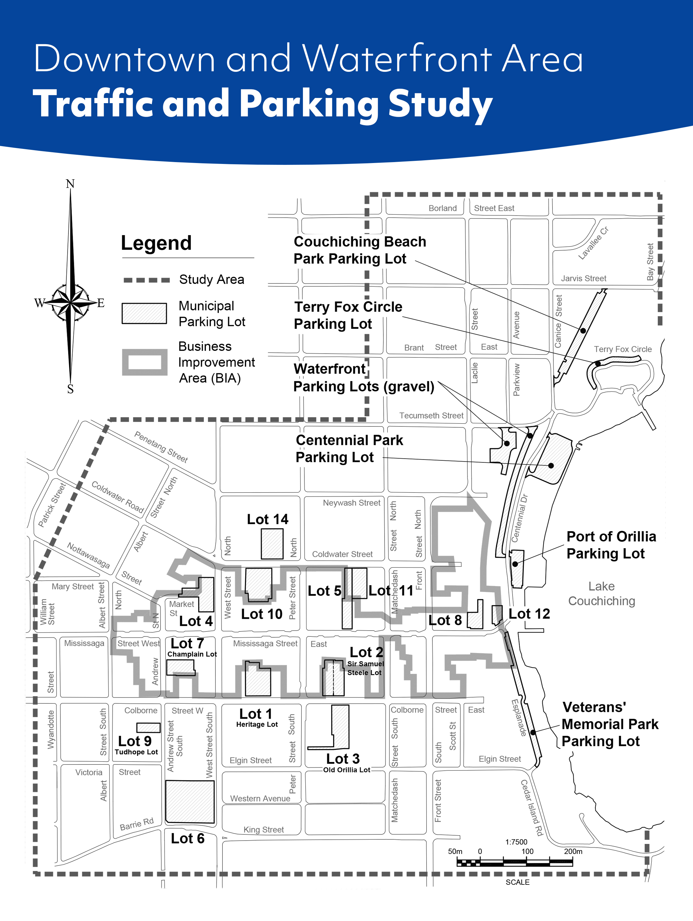 Key Map Downtown and Waterfront Area Traffic and Parking Study Area