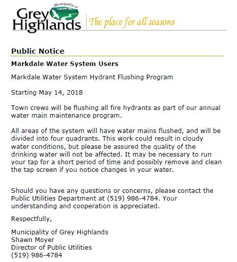Hydrant Flushing Program