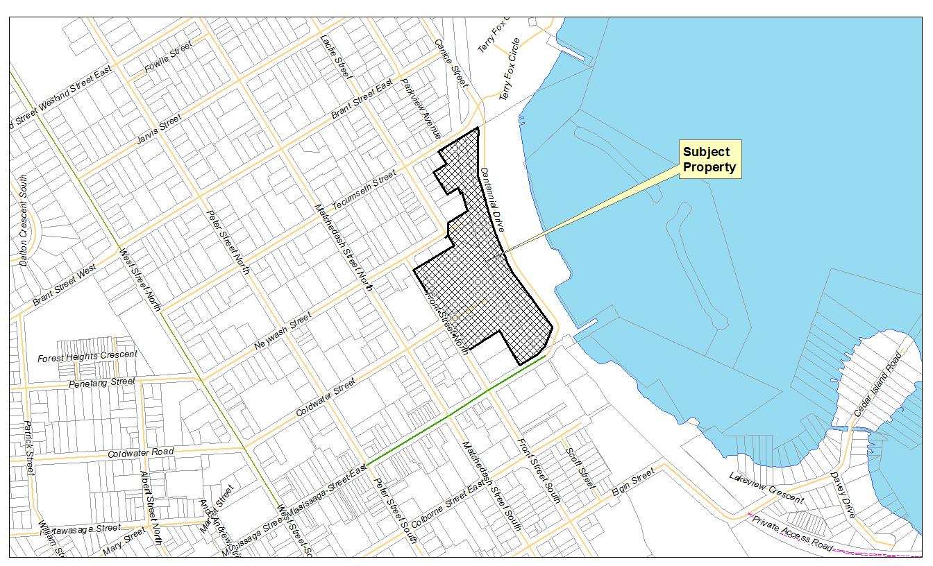Waterfront lands for development
