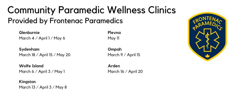 Community Paramedicine clinics March April May 2020