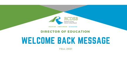 Director of Education Welcome Back Message Fall 2021