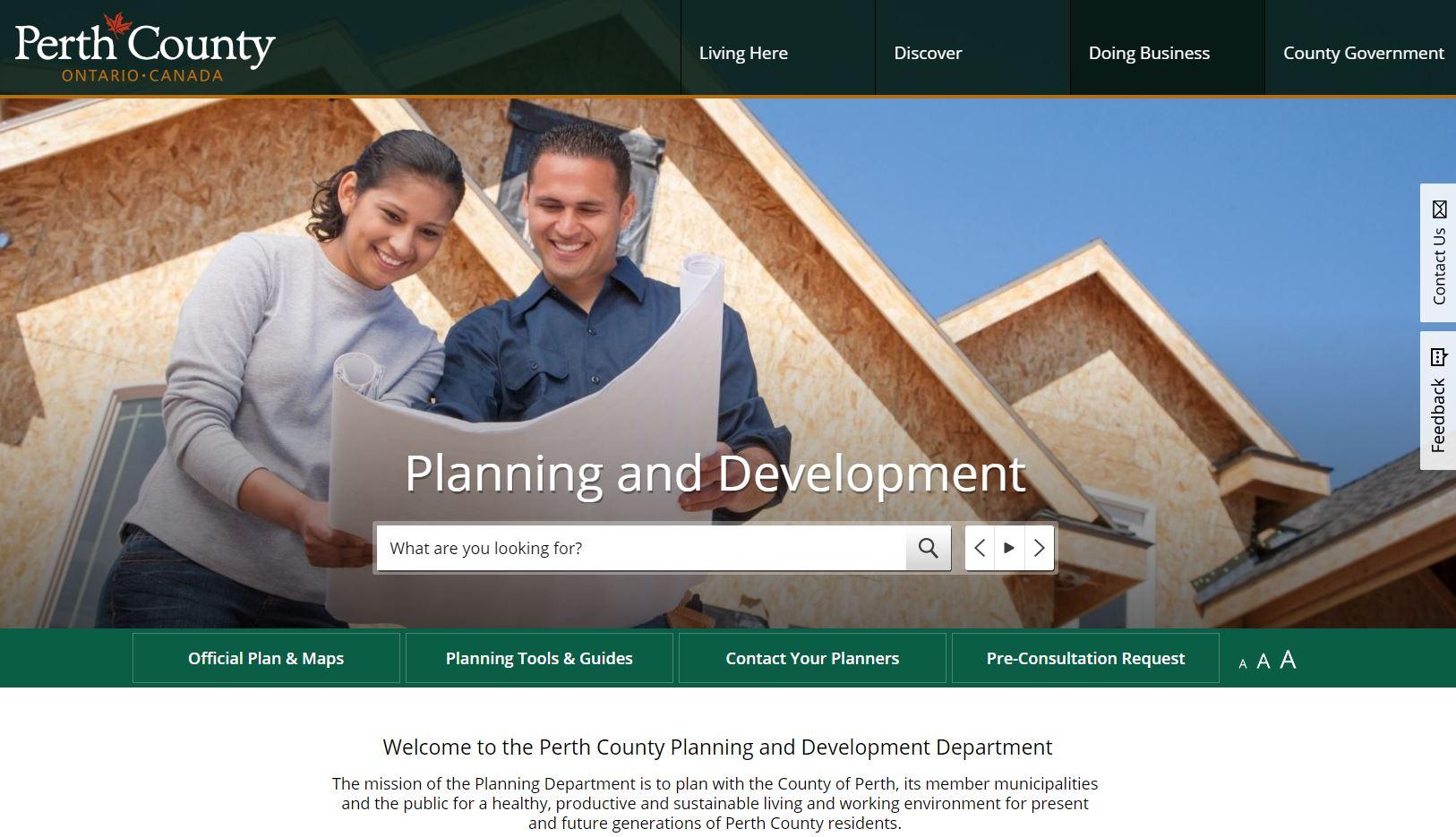 New Planning Website