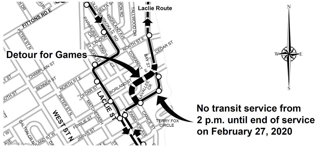 Transit Detour notice graphic