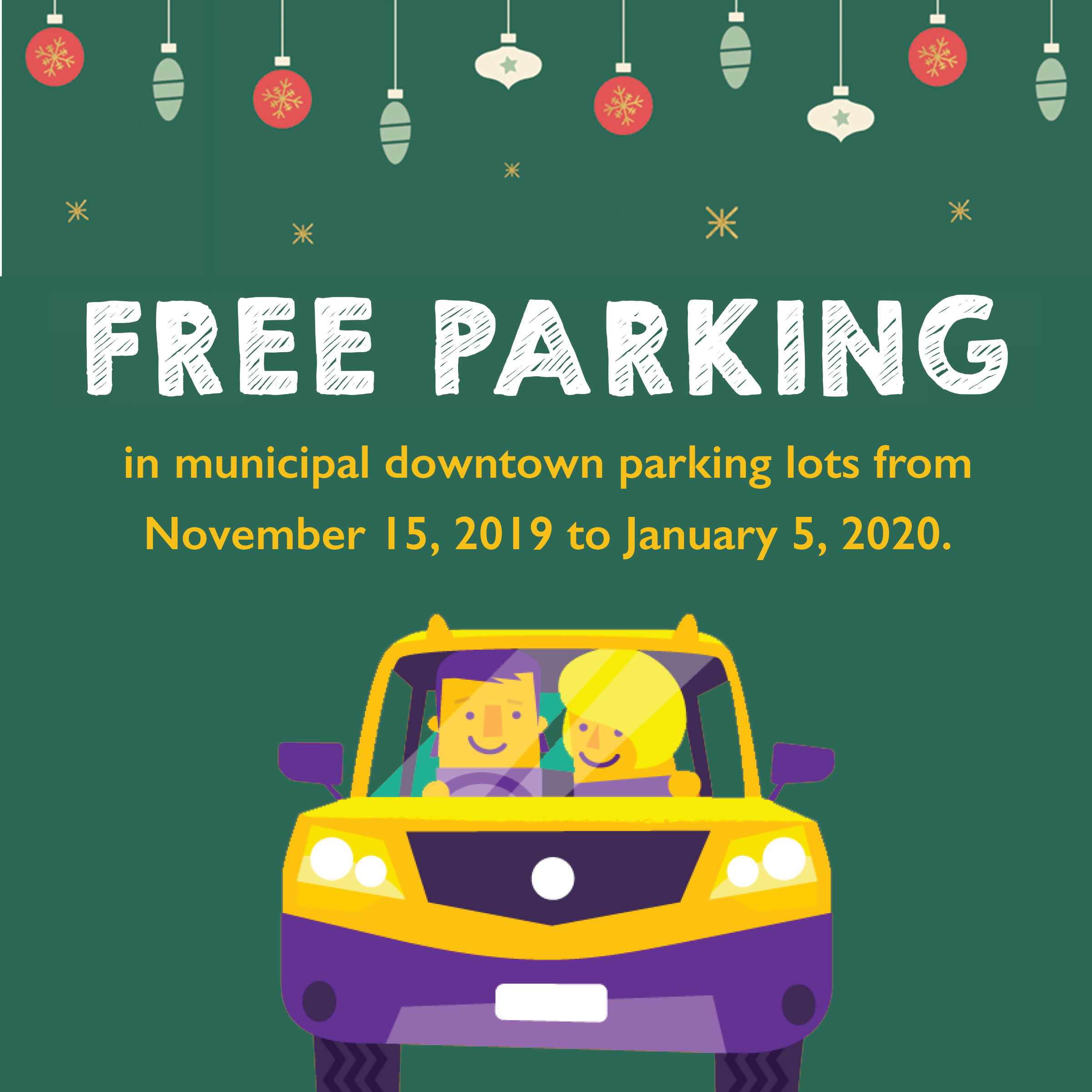 Free Holiday Parking SM Graphic