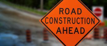 A Road Construction Ahead sign