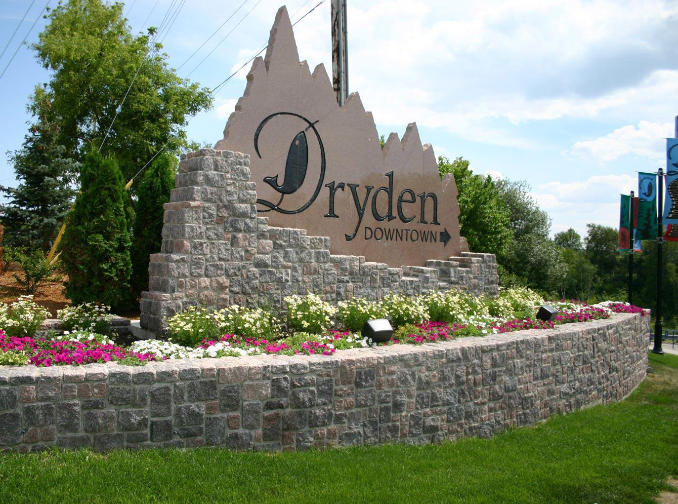 Dryden Entrance Sign