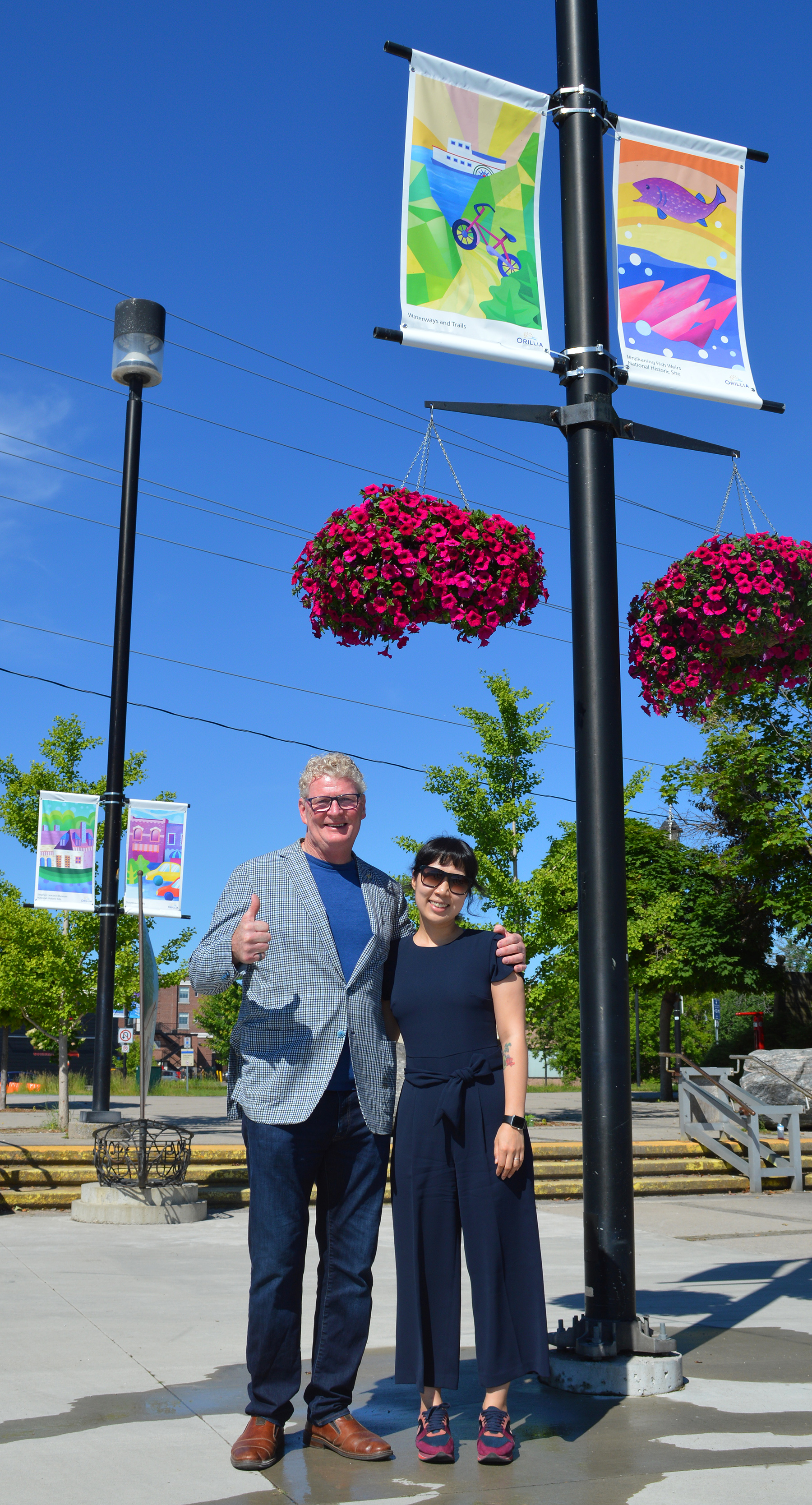 Waterfront Banners - Mayor Clarke Jieun Kim 2019