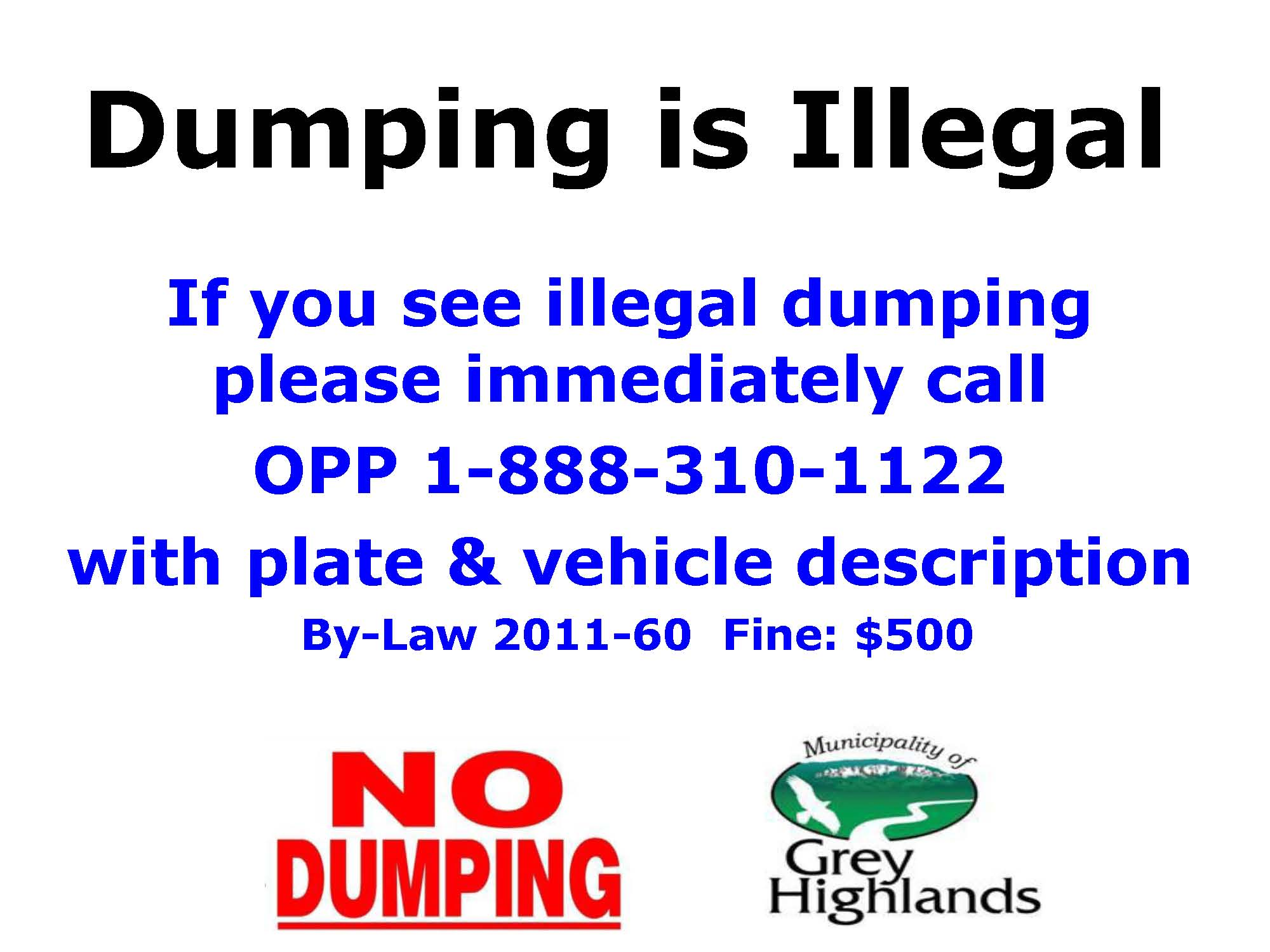 Illegal Dumping Notice