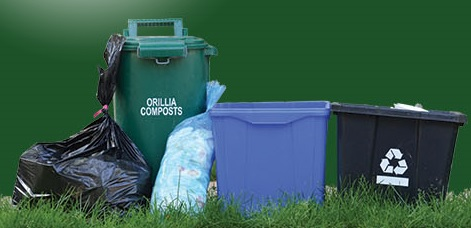 Compost, Garbage and Recycling Image