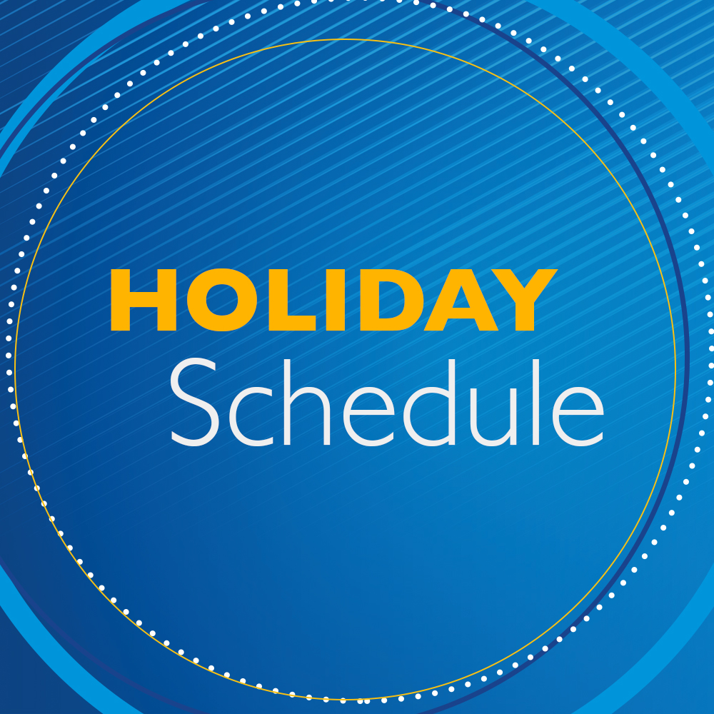 Holiday Schedule Post