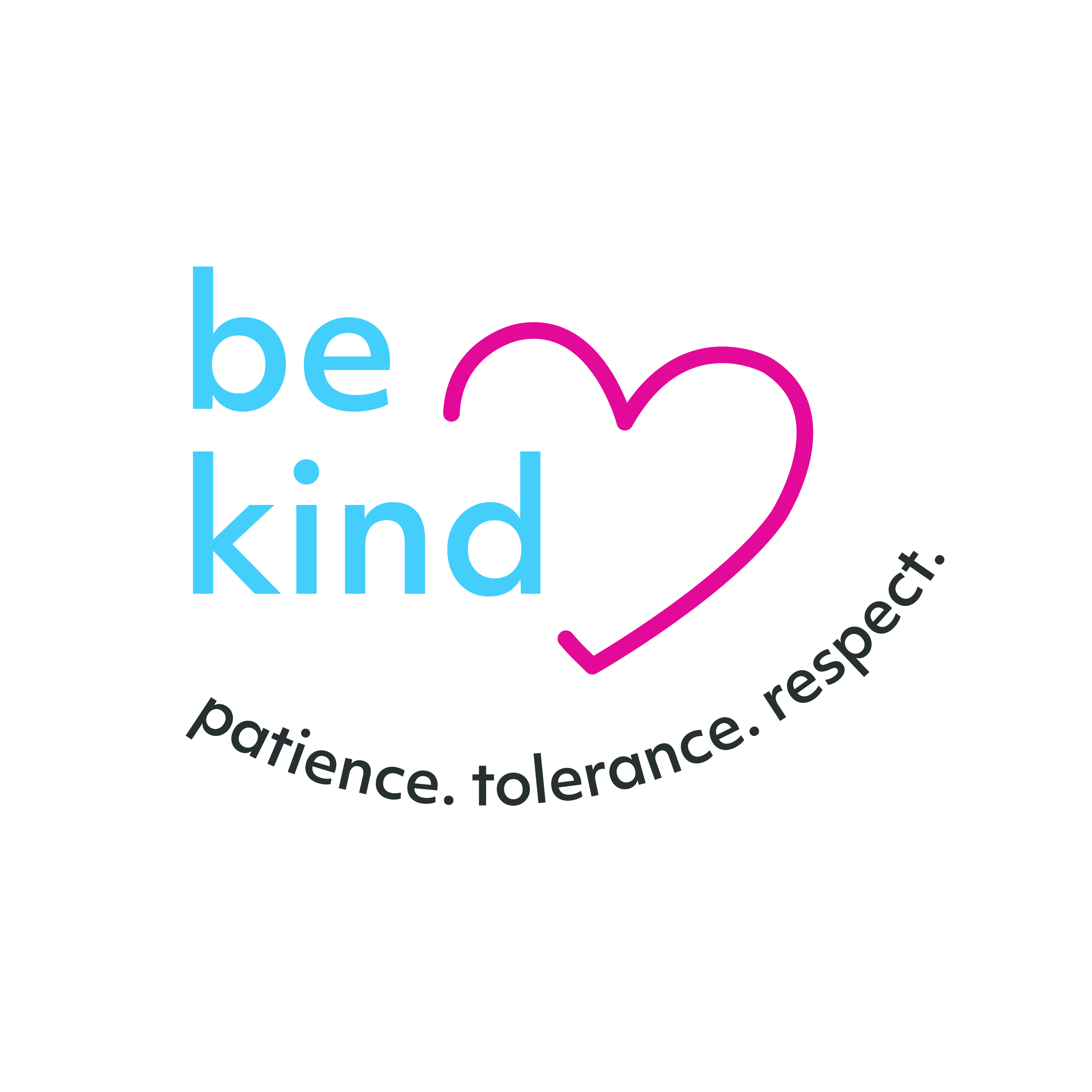 Be Kind - with slogan - Colour Logo - CMYK