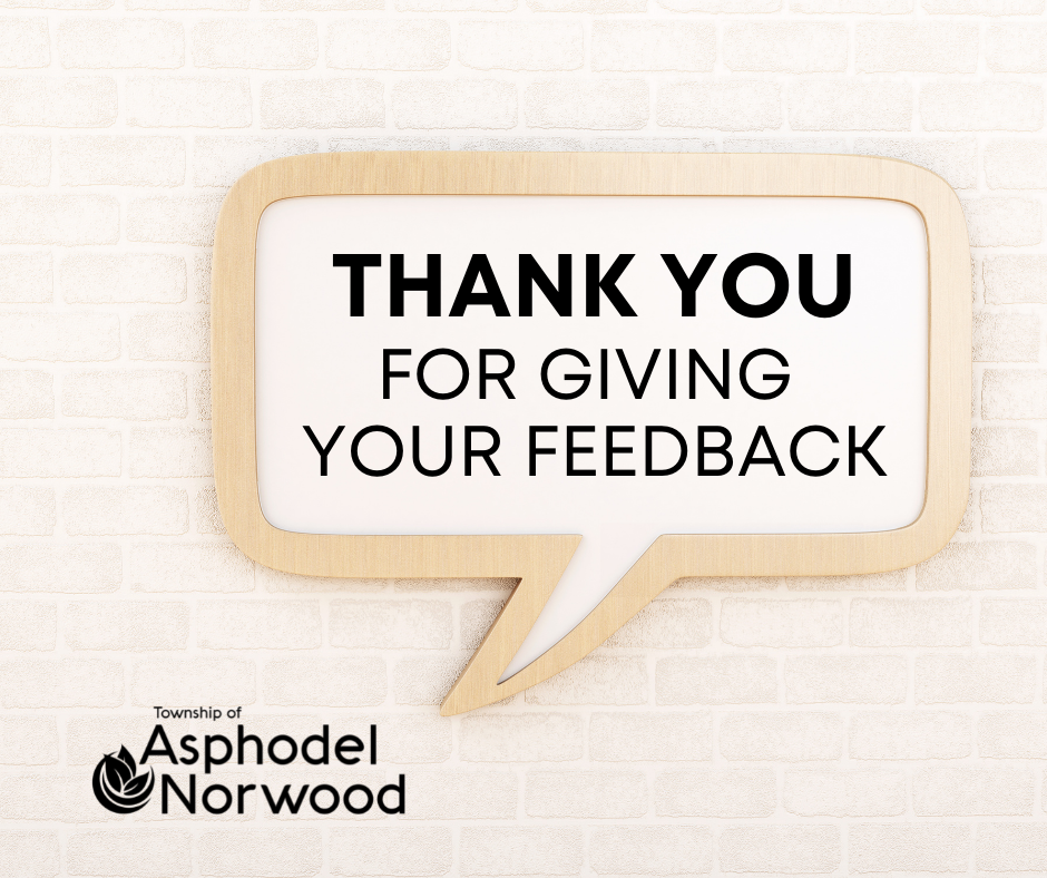 Thank You for Giving Your Feedback