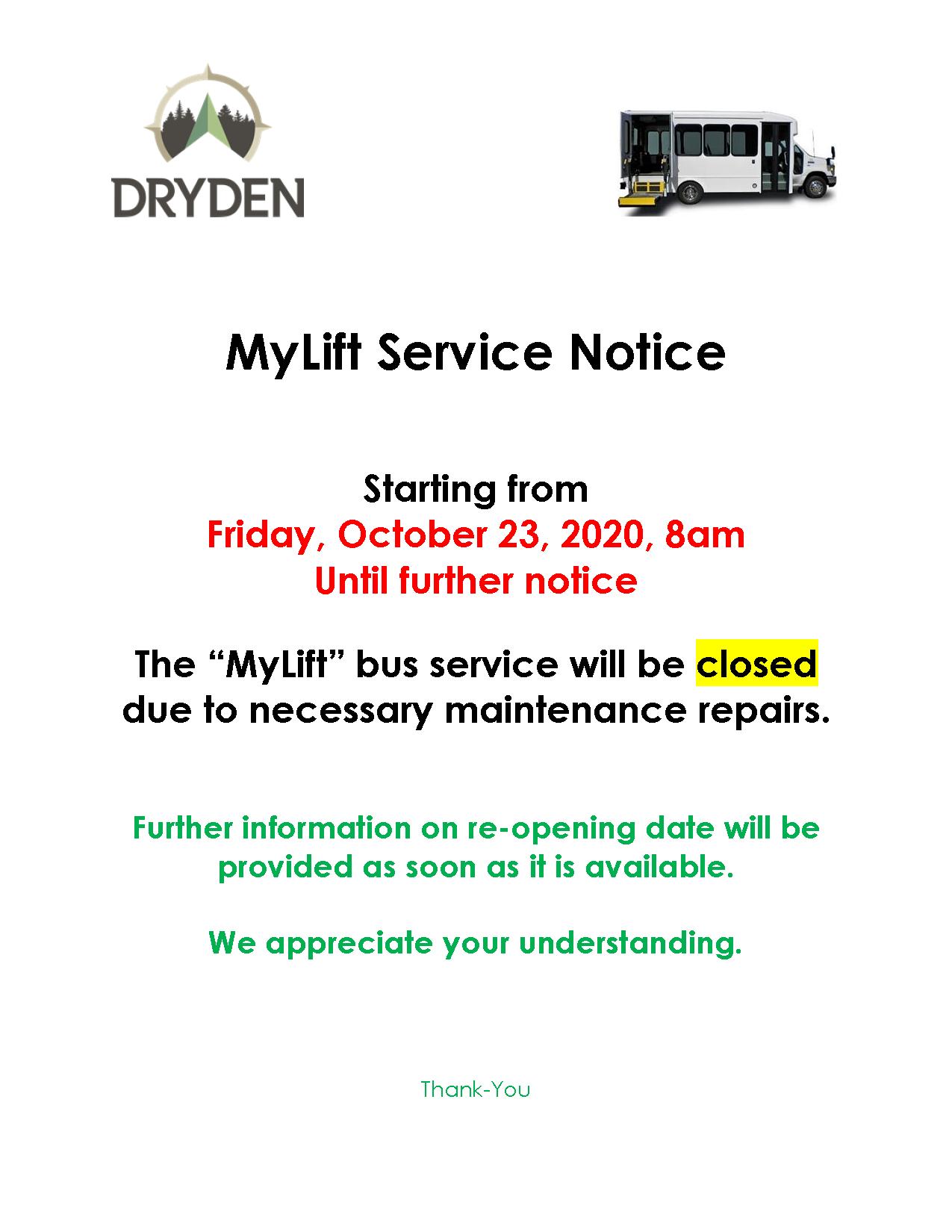 MyLift Service Interruption