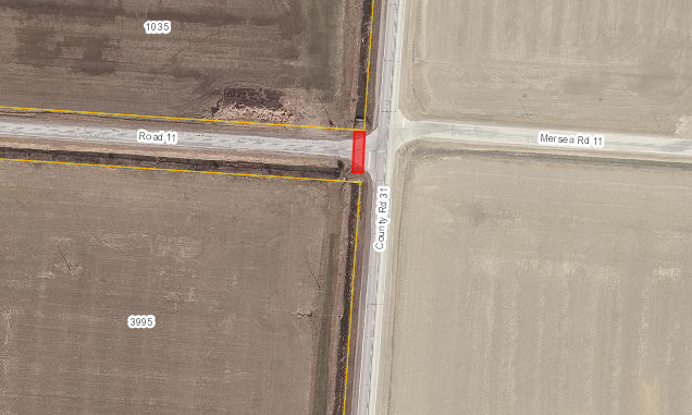 Map showing the intersection of Road 11 and County Road 31