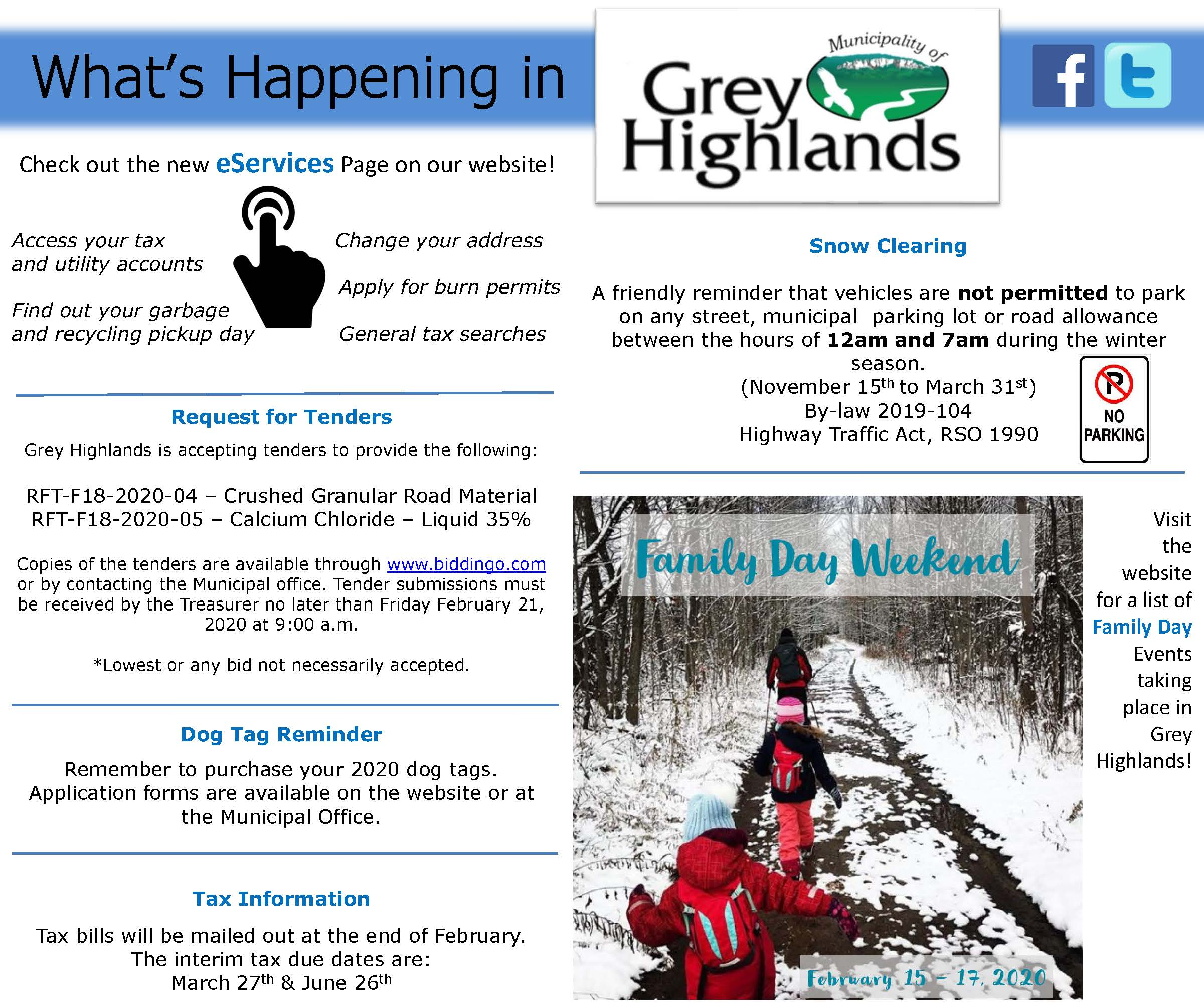 What's Happening this week in Grey Highlands!